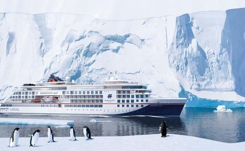 Rendering of HANSEATIC spirit, the third Hapag -Lloyd expedition ship. It will debut in 2021. (photo courtesy of Hapag -Lloyd Cruises)
