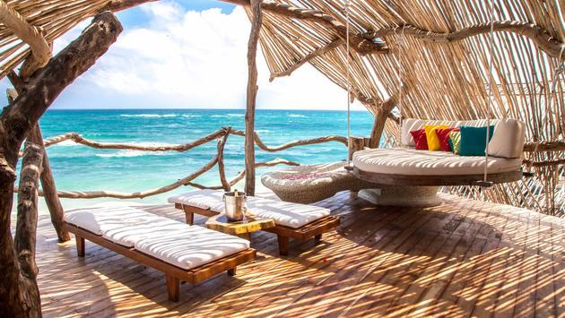 Gorgeous views from the Azulik Hotel in Tulum, Riviera Maya.