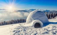 Igloo on a mountain