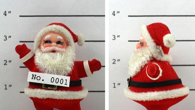 Santa Claus doll mug shot