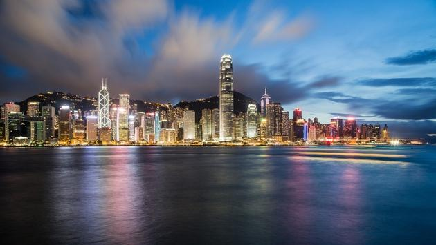 Hong Kong waterfront cityscape