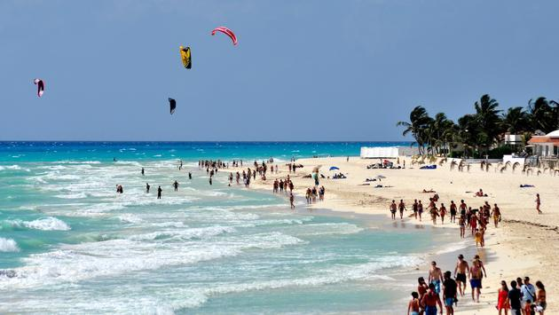 The Playa del Carmen shoreline