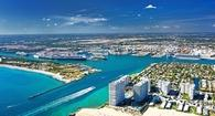 Aerial view of Port Everglades entrance channel