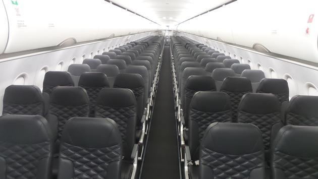 Frontier aircraft cabin