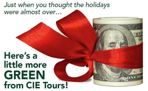 $100 AMEX Gift Card Booking Bonus with CIE Tours!
