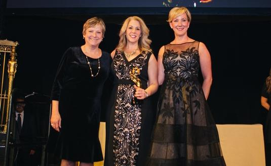 TravAlliancemedia's Theresa Norton (left) with the Royal Caribbean International team