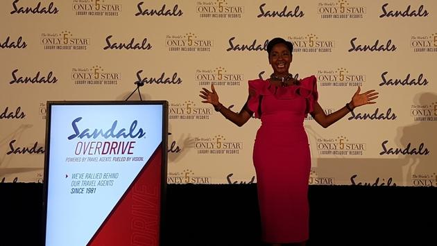 Marsha-Ann Brown, Sandals' dynamic director of romance giving her update on Sandals' Destination Weddings programme.