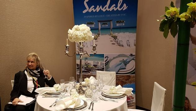 Sandals Weddings was a big part of the evening, including this elaborate setup during the tradeshow portion of the night.