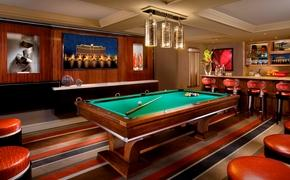 Bellagio Executive Parlor Suite billiards room