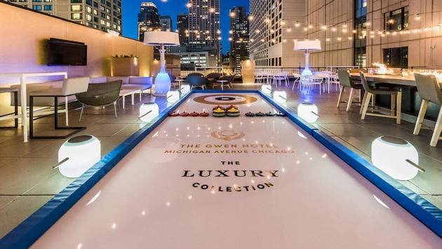 Curling rink at The Gwen, a Luxury Collection Hotel in Chicago.