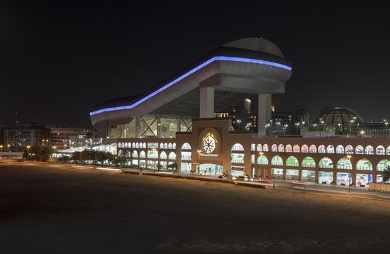 Night view of Ski Dubai, which was the world's largest indoor ski resort when it opened in 2005.