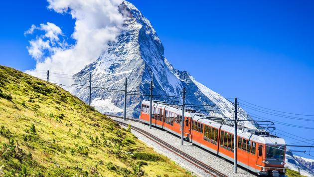 Gornergrat Cog Railway, Switzerland, Matterhorn