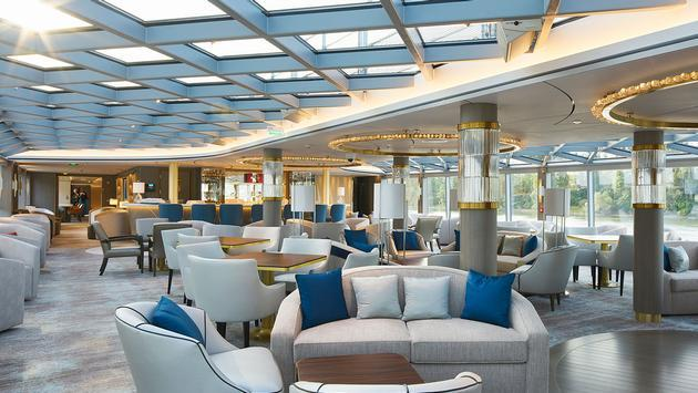 The Palm Court on Crystal River Cruises' Crystal Bach