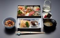 American Airlines traditional Japanese meal