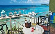 Balcony view of dock at Sandals Ochi