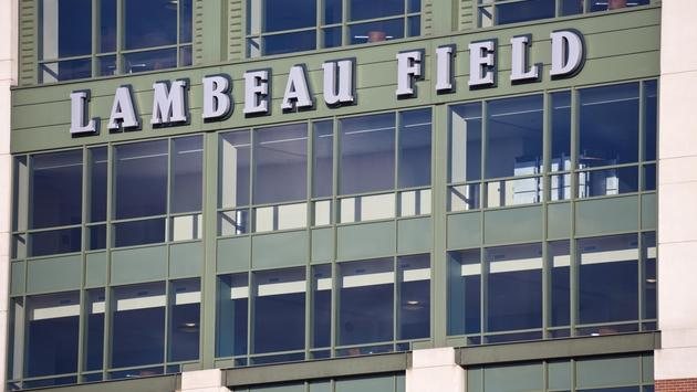 Closeup of Lambeau Field in Green Bay, Wisconsin