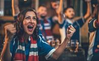 Fans cheering on their favorite soccer club, sports, football