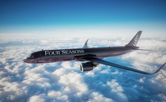 The all-new Four Seasons Private Jet, an A321LRneo, scheduled to take flight in early 2021