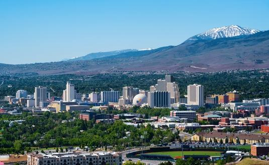 Aerial view of Reno, Nevada