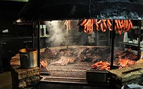 A barbecue pit in Austin, Texas
