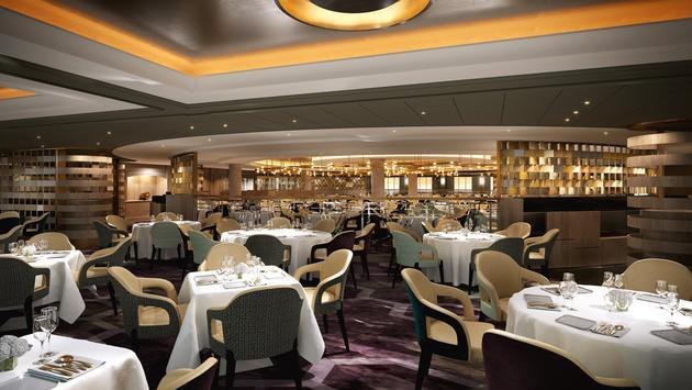 The Crystal Serenity Dining Room will become Waterside after the ship's renovation.