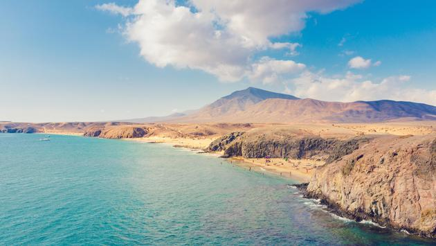 The coast of Lanzarote in the Canary Islands