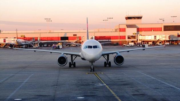 A Delta Airbus A320-200 plane at Hartsfield-Jackson Atlanta International Airport