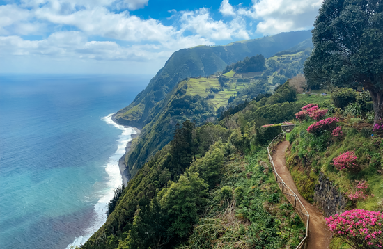 Hiking Along the Coast in the Azores