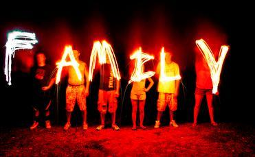 'Family' spelled with trick photography