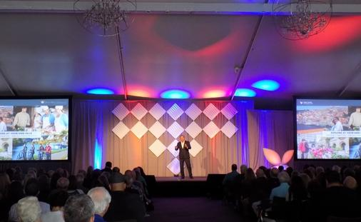 Gary Murphy, Vice President of Sales and Co-Owner, AmaWaterways addresses attendees of the Avoya Travel Network's 11th Annual Conference. The conference highlighted record sales growth and number of Independent Agents selling travel. (photo courtesy of Ana Figueroa)