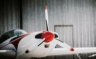 Close up of a small private aircraft