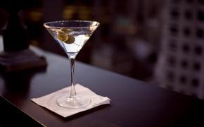 Martini on a napkin