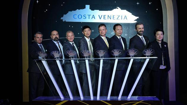 Costa Cruises reveals new ship name at Costa Venezia coin ceremony