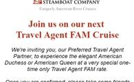 Join us on our next  Travel Agent FAM Cruise