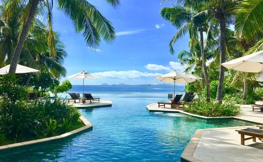 Best known for having the only overwater bungalows in Fiji, the excellence of Likuliku Lagoon Resort goes well beyond their luxury accommodations and five-star service. (photo courtesy of Katherine Vallera)