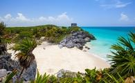 The famous Tulum Ruins in the Riviera Maya south of Cancun, Mexico