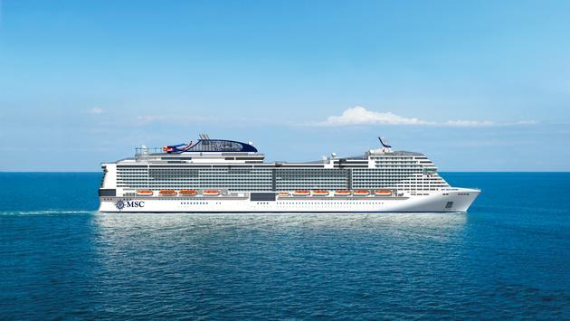 The MSC Bellissima launches in 2019. (photo courtesy of MSC Cruises)