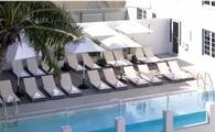 Hotel pool with chairs