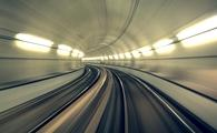 Underground tunnel in blurred motion