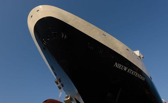 Holland America Line's Nieuw Statendam as seen at its coin ceremony