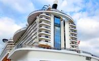 The condo-like stern of MSC Cruises