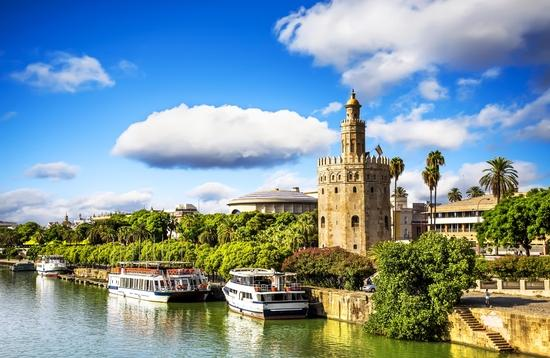 Golden tower (Torre del Oro) in Seville, Spain