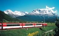 Eurail Glacier Express in the Engadine Valley