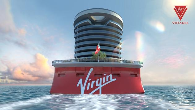The stern of Virgin Voyages' first ship design