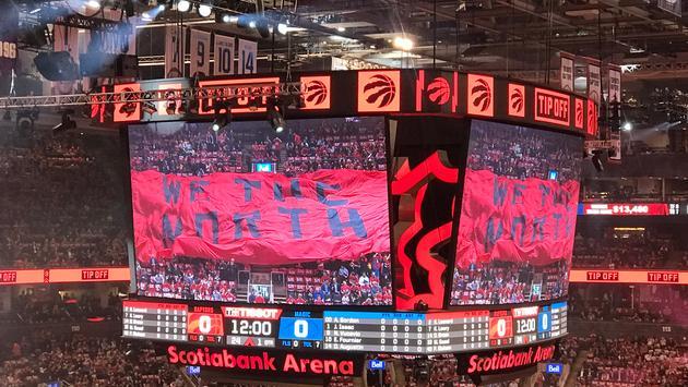 Scotiabank Arena Scoreboard