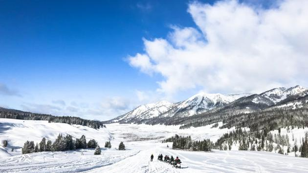 Snowmobiling in Jackson Hole, Wyoming