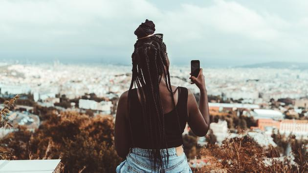 Barcelona, black traveler, Spain