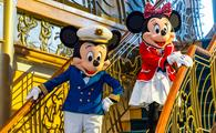 Captain Mickey and First Mate Minnie on the Disney Wonder