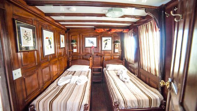 Sleeping accommodations onboard Amazon Nature Tour's Tucano
