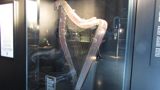 The harp has been Guinness' emblem since the 1700s.